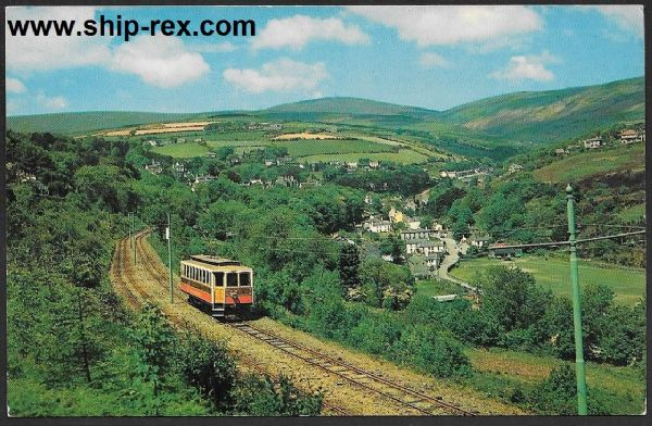 Laxey Valley, Snaefell & The Electric Railway - postcard
